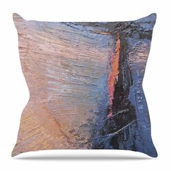 Coral and Blue by Carol Schiff Throw Pillow