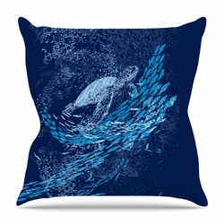 The Turtle Way by Frederic Levy-Hadida Throw Pillow