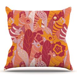 Fishes Here, Fishes There 3 by Akwaflorell Throw Pillow