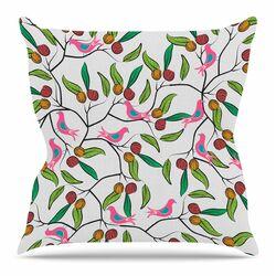 Birds World by Famenxt Throw Pillow