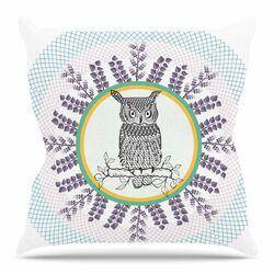 Owl by Famenxt Throw Pillow