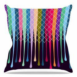 Rainbow Drops by Famenxt Throw Pillow