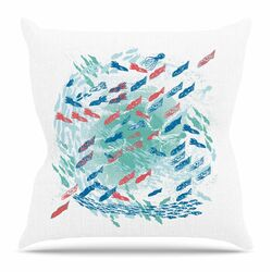 Underwater Life by Frederic Levy-Hadida Throw Pillow