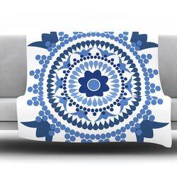 Bohemian Blues by Carolyn Greifeld Fleece Throw Blanket