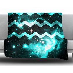 Galaxy Chevron by Alveron Fleece Throw Blanket
