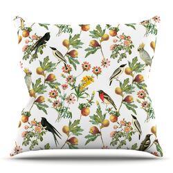 Bird Rapport by Debora Chodik Throw Pillow
