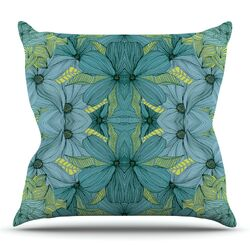 Blues in Blue by Akwaflorell Throw Pillow