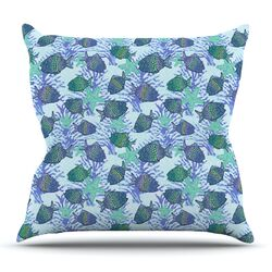 My Colorful Fishes Throw Pillow