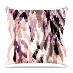 Abstract Leaves II Throw Pillow