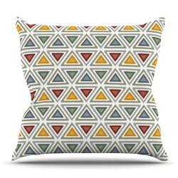Ikat Triangles Throw Pillow