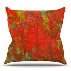 Crimson Forest Throw Pillow