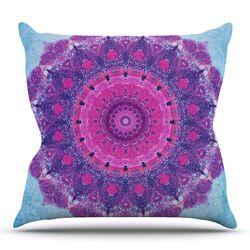 Grunge Mandala Throw Pillow