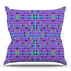 Optical Paisley Throw Pillow