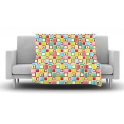 Colorful Check Fleece Throw Blanket