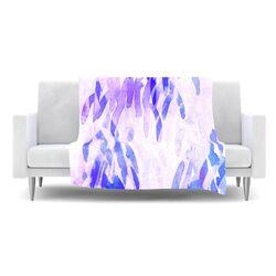 Abstract Leaves III Fleece Throw Blanket