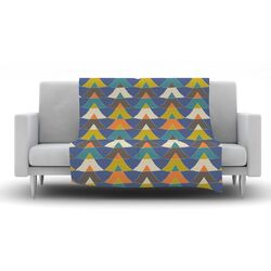 Colorful Triangles Fleece Throw Blanket