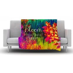 Bloom Where You're Planted Fleece Throw Blanket