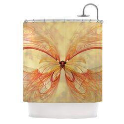 Papillion Polyester Shower Curtain