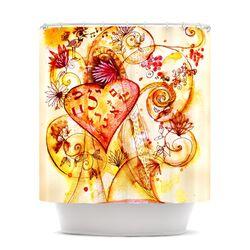 Tree of Love Polyester Shower Curtain
