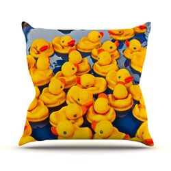 Duckies Throw Pillow
