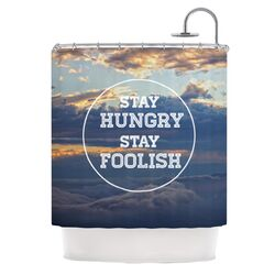 Stay Hungry Polyester Shower Curtain