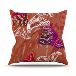 Butterflies Party Throw Pillow