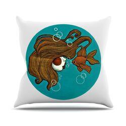 Goldfish by Jaidyn Erickson Throw Pillow
