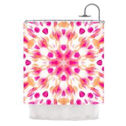 Batik Mandala Polyester Shower Curtain