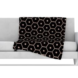 Tiled Mono Microfiber Fleece Throw Blanket