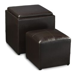Designs4Comfort Park Avenue Cube Ottoman with Stool