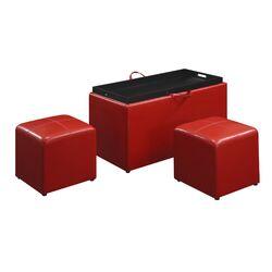 Designs 4 Comfort Leather Storage Bench