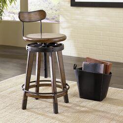 Studio Home Adjustable Height Swivel Bar Stool