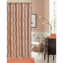 Link Faux Linen Modern Shower Curtain
