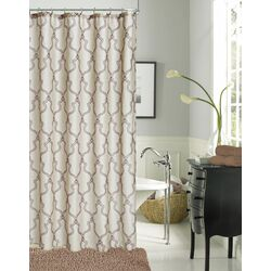 Link Faux Linen Modern Shower Curtain