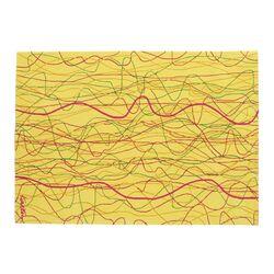 Karim Rashid KR KSG Yellow/Pink Area Rug