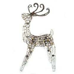 105 Light Multi Posing Grapevine Deer Sculpture