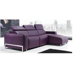 Luxury Napoli Sectional Sofa with Chaise Lounge - Italian Fabric
