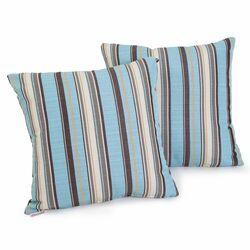 Carnegie Celeste Striped Sunbrella Pillow