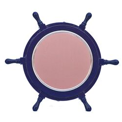 Deluxe Class Ship Wheel Mirror