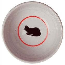Cameo Porcela Cat Bowl