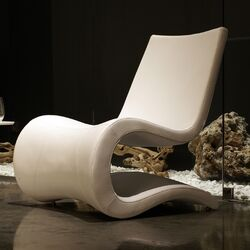 Flow Eco Leather Lounge Chair