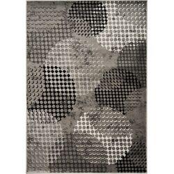 Platinum Industrial Grey/Cream Crate Area Rug