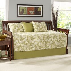 Plantation Floral Lime 5 Piece Daybed Set