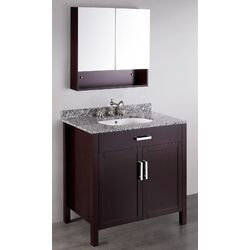 Contemporary 36'' Vanity Set with Single Sink