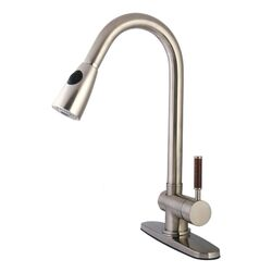 Wilshire Gourmetier Single Handle Pull-Down Spray Kitchen Faucet