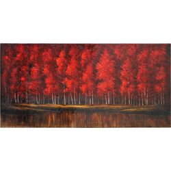 The Ruby Forest Canvas Wall Art