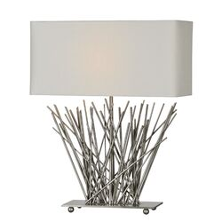 Stick Table Lamp in Satin Nickel