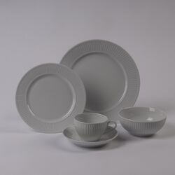 Plisse Rimless Bowl 5 Piece Dinnerware Collection-Plisse 6
