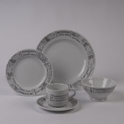 Brasserie 5 Piece Dinnerware Collection-Brasserie 7.75