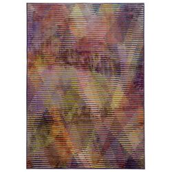 Prismatic Purple/Gold Abstract Area Rug